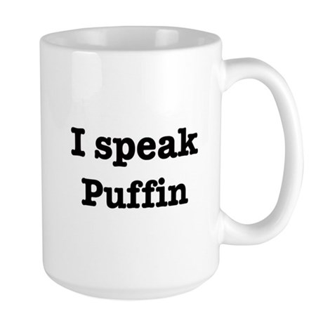 I speak Puffin Large Mug