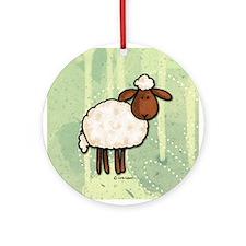 peace love sheep Ornament (Round)