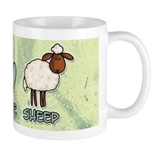 peace love sheep Mug