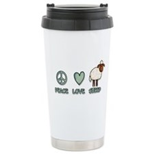 peace love sheep Travel Mug
