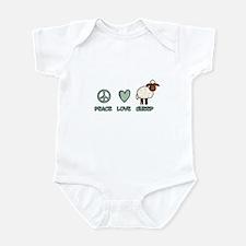 peace love sheep Infant Bodysuit