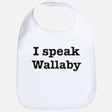 I speak Wallaby Bib