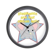 Elephants Are Not Circus Acts Wall Clock