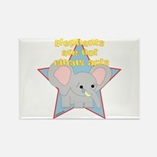 Elephants Are Not Circus Acts Rectangle Magnet