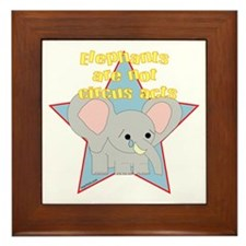 Elephants Are Not Circus Acts Framed Tile