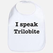 I speak Trilobite Bib