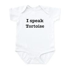 I speak Tortoise Infant Bodysuit