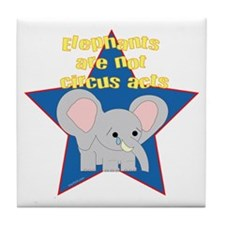 Animals Not Circus Acts Tile Coaster