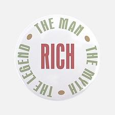 """Rich Man Myth Legend 3.5"""" Button"""