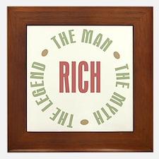 Rich Man Myth Legend Framed Tile