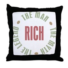 Rich Man Myth Legend Throw Pillow