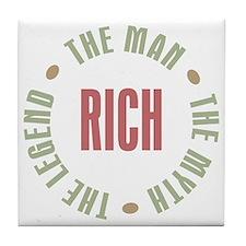 Rich Man Myth Legend Tile Coaster