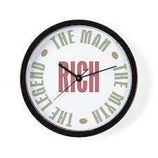 Rich Man Myth Legend Wall Clock