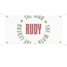 Rudy Man Myth Legend Banner