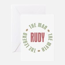 Rudy Man Myth Legend Greeting Card