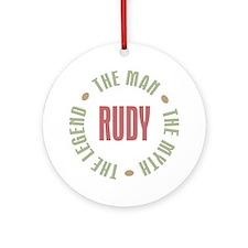 Rudy Man Myth Legend Ornament (Round)