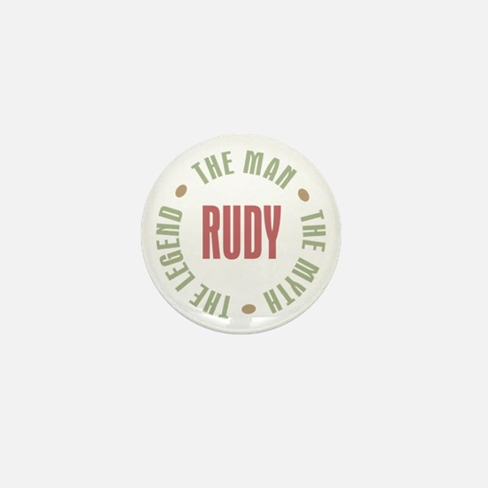 Rudy Man Myth Legend Mini Button