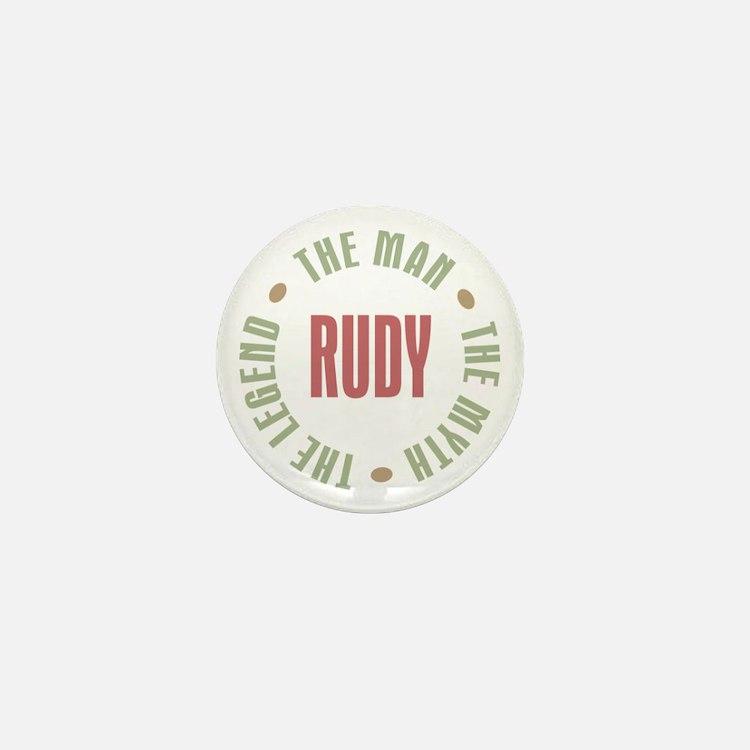 Rudy Man Myth Legend Mini Button