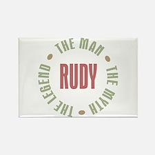 Rudy Man Myth Legend Rectangle Magnet