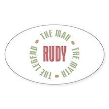 Rudy Man Myth Legend Oval Decal