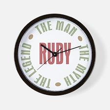 Rudy Man Myth Legend Wall Clock
