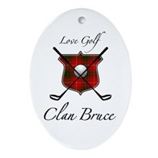 Bruce - Love Golf - Oval Ornament