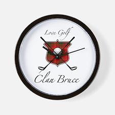Bruce - Love Golf - Wall Clock
