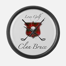 Bruce - Love Golf - Large Wall Clock