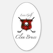 Bruce - Love Golf - Oval Decal