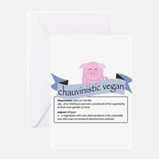Chauvinistic Vegan Female Pig Greeting Card