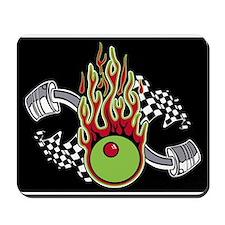 flaming Martini Olive Mousepad