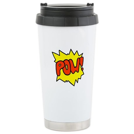 'Pow!' Stainless Steel Travel Mug