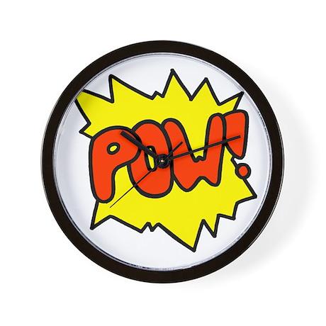'Pow!' Wall Clock