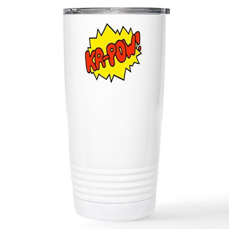'Ka-Pow!' Stainless Steel Travel Mug