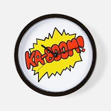 'Ka-Boom! Wall Clock