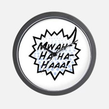 'Evil Laugh' Wall Clock