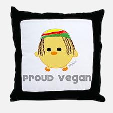 Proud Vegan Throw Pillow