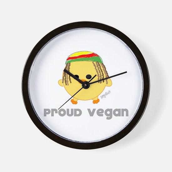 Proud Vegan Wall Clock