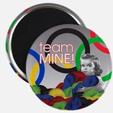 Unique Selfish knitters team mine ravelry ravelympics Magnet