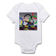 Cute Selfish knitters team mine ravelry ravelympics Infant Bodysuit