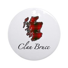 Clan Bruce Map - Ornament (Round)