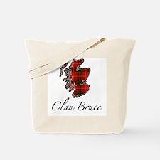Clan Bruce Map - Tote Bag