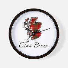 Clan Bruce Map - Wall Clock