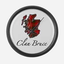 Clan Bruce Map - Large Wall Clock