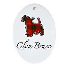 Bruce - Scotty Dog - Oval Ornament