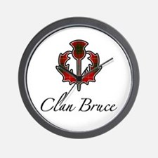 Clan Bruce - Thistle Wall Clock