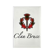 Clan Bruce - Thistle Rectangle Magnet
