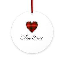 Love Clan Bruce Ornament (Round)