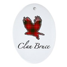 Clan Bruce Eagle Oval Ornament