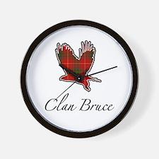 Clan Bruce Eagle Wall Clock